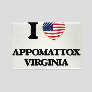 I love Appomattox Virginia Magnets