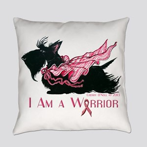 Scottish Breast Cancer Warrior Everyday Pillow