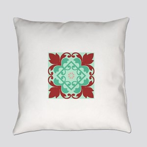 Red Mint Green Ornamental Decor Everyday Pillow