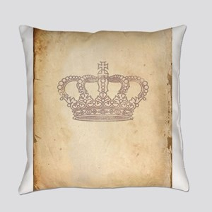 Vintage Pink Royal Crown Everyday Pillow