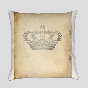 Vintage Royal Crown Everyday Pillow