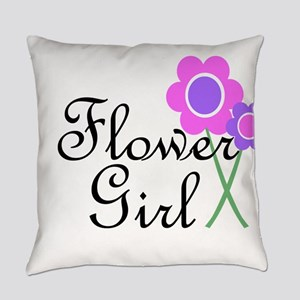 Purple Daisy Flower Girl Everyday Pillow