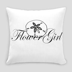 Sand Dollar Flower Girl Everyday Pillow