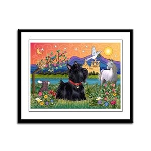 Fantasy Land Scottie Framed Panel Print