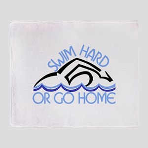 Swim Hard Throw Blanket