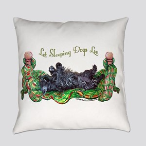 Sleeping Scottie Everyday Pillow