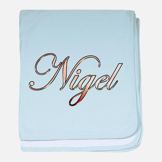 Gold Nigel baby blanket