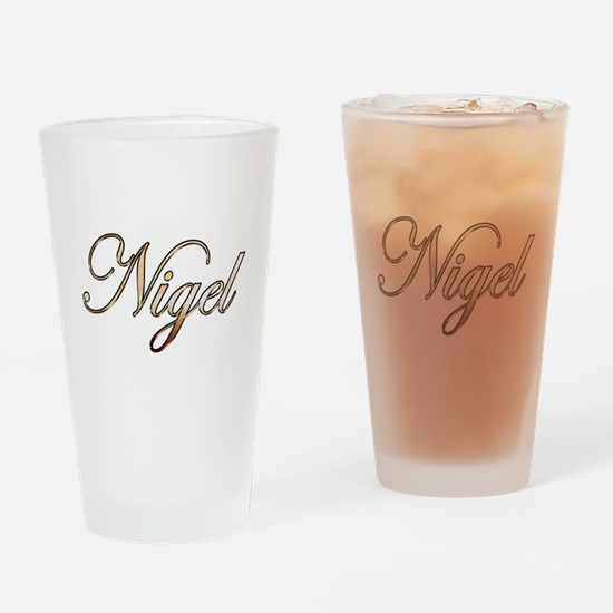 Gold Nigel Drinking Glass