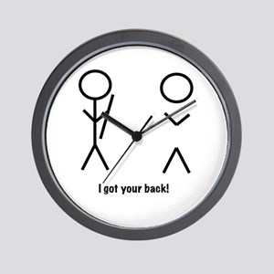 I got your back! Wall Clock