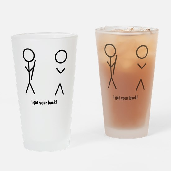 I got your back! Drinking Glass