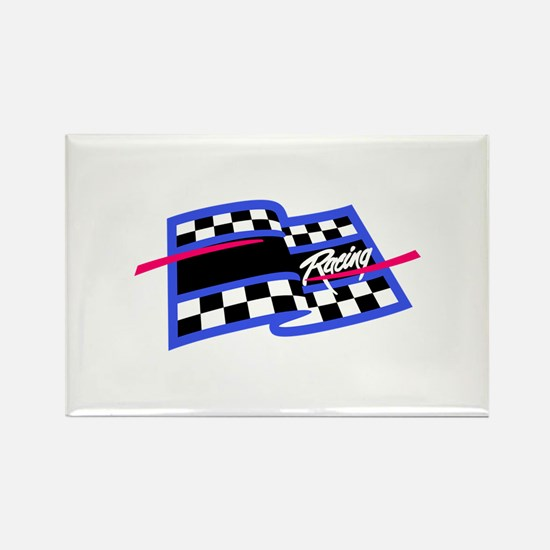 Checkered Flag Name Drop Magnets