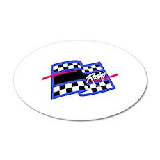 Checkered Flag Name Drop Wall Decal