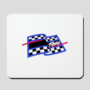 Checkered Flag Name Drop Mousepad