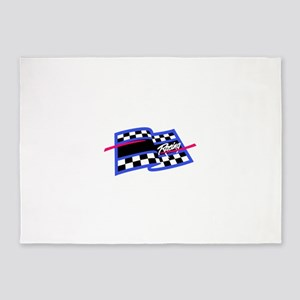 Checkered Flag Name Drop 5'x7'Area Rug