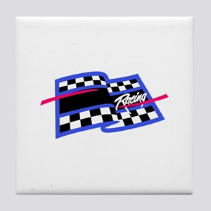 Checkered Flag Name Drop Tile Coaster