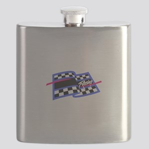 Checkered Flag Name Drop Flask