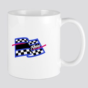 Checkered Flag Name Drop Mugs