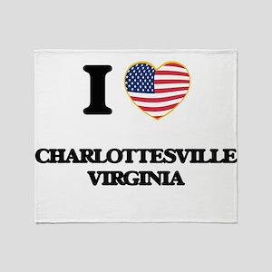 I love Charlottesville Virginia Throw Blanket