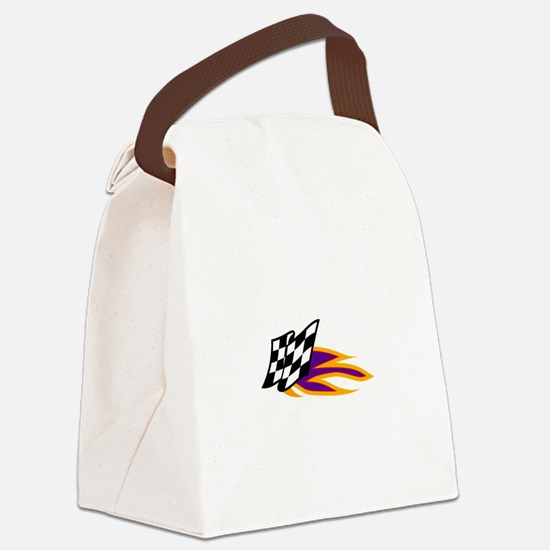 Hot Flag Canvas Lunch Bag