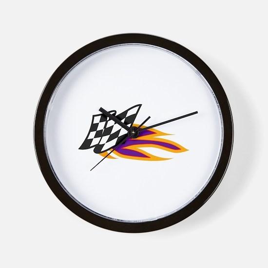 Hot Flag Wall Clock