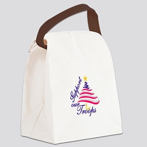 Support Our Troops Canvas Lunch Bag