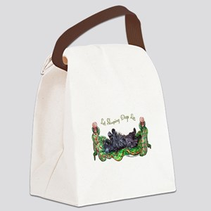 Sleeping Scottie Canvas Lunch Bag