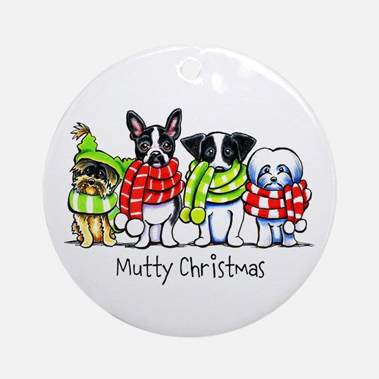 Dogs in Scarves Custom Ornament (Round)