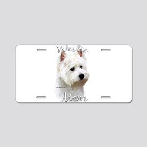 Westie Mom Aluminum License Plate