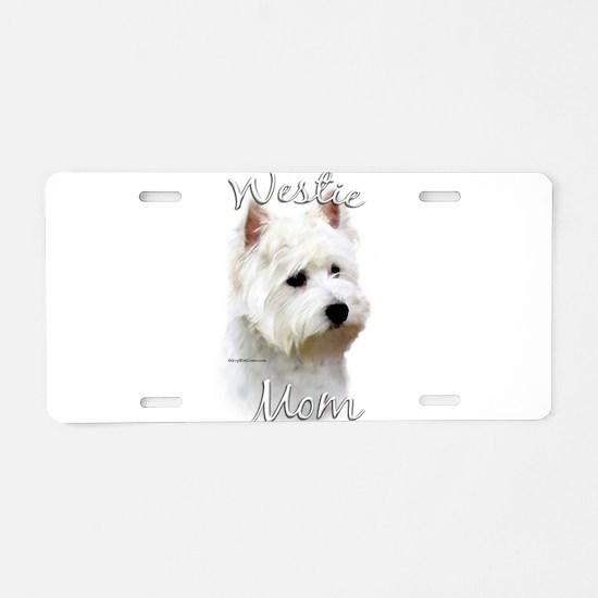 Westie Mom Aluminum License Plate