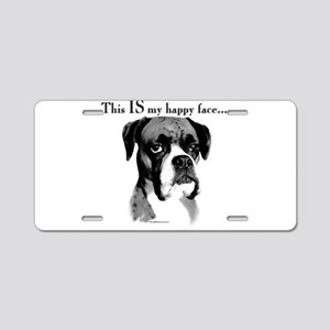 Boxer Happy Face Aluminum License Plate