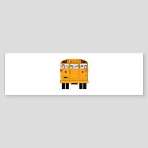 School Bus Rear Bumper Sticker