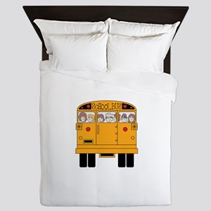 School Bus Rear Queen Duvet