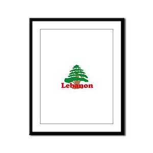 Cedar Tree Framed Panel Print