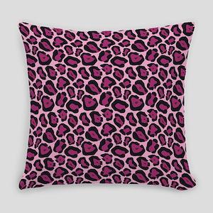 Hot Pink Leopard Print Everyday Pillow