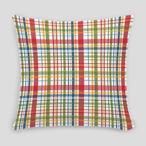 Mountain Plaid Print Everyday Pillow