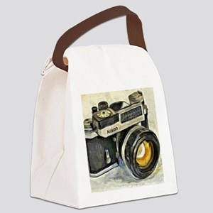 Vintage SLR camera with selenium  Canvas Lunch Bag