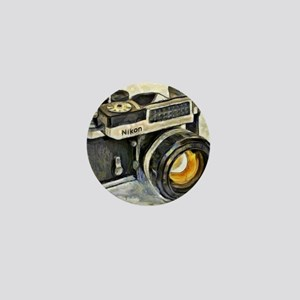 Vintage SLR camera with selenium meter Mini Button