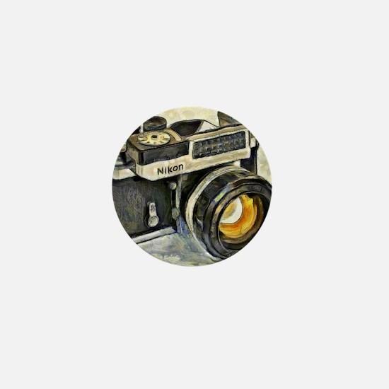 Vintage SLR camera with selenium meter Mini Button