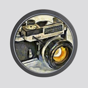 Vintage SLR camera with selenium meter Wall Clock