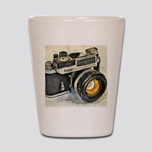 Vintage SLR camera with selenium meter Shot Glass