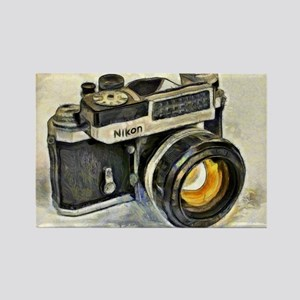 Vintage SLR camera with selenium  Rectangle Magnet