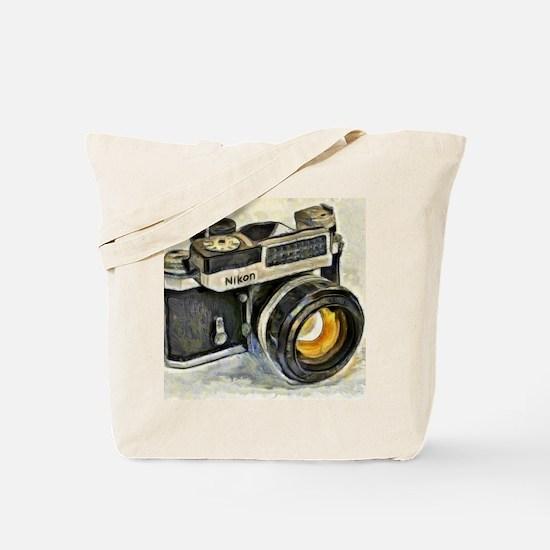 Vintage SLR camera with selenium meter Tote Bag