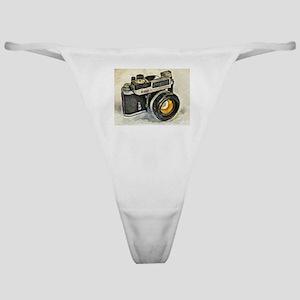 Vintage SLR camera with selenium met Classic Thong