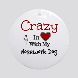 Nosework Dog Ornament (Round)