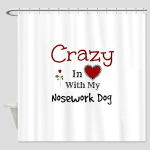 Nosework Dog Shower Curtain