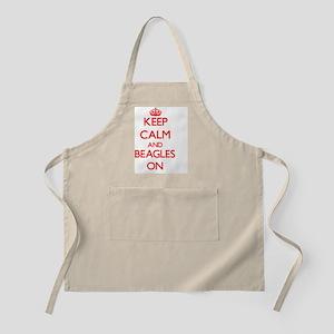 Keep Calm and Beagles ON Apron
