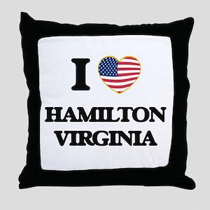 I love Hamilton Virginia Throw Pillow