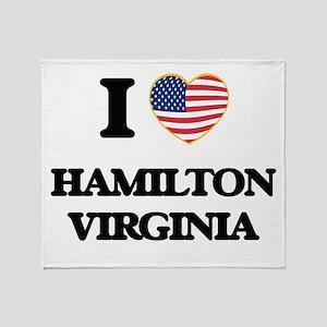 I love Hamilton Virginia Throw Blanket
