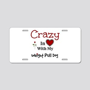 Weight Pull Dog Aluminum License Plate