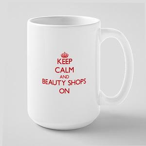 Keep Calm and Beauty Shops ON Mugs